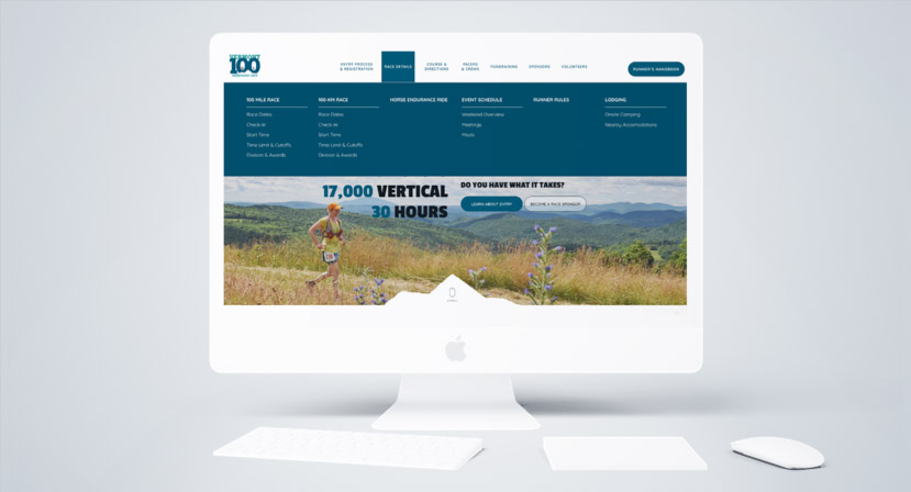 Vermont 100 - Project - Desktop View Mega Nav