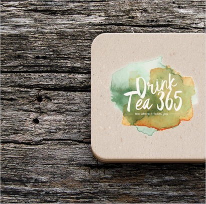 Drink Tea 365 - Project Case Study - Logo on Phone