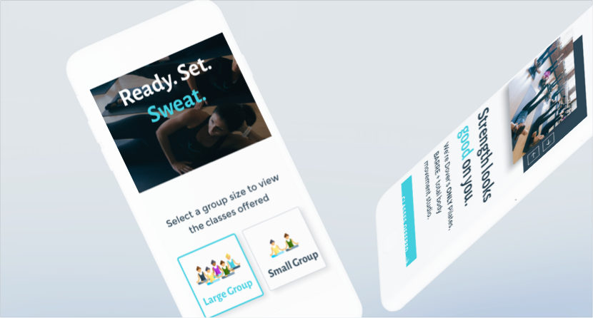 Suite Pilates - Project - Mobile Responsive Example
