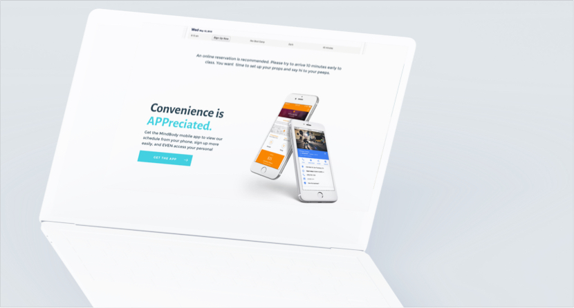 Suite Pilates - Project - Website Desktop Example