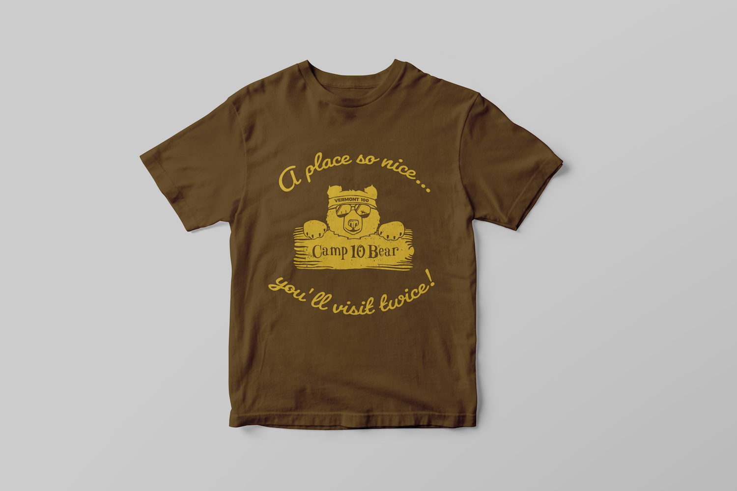 Vermont 100 - Project - Camp 10 Bear Brown T-Shirt Design Apparel Example