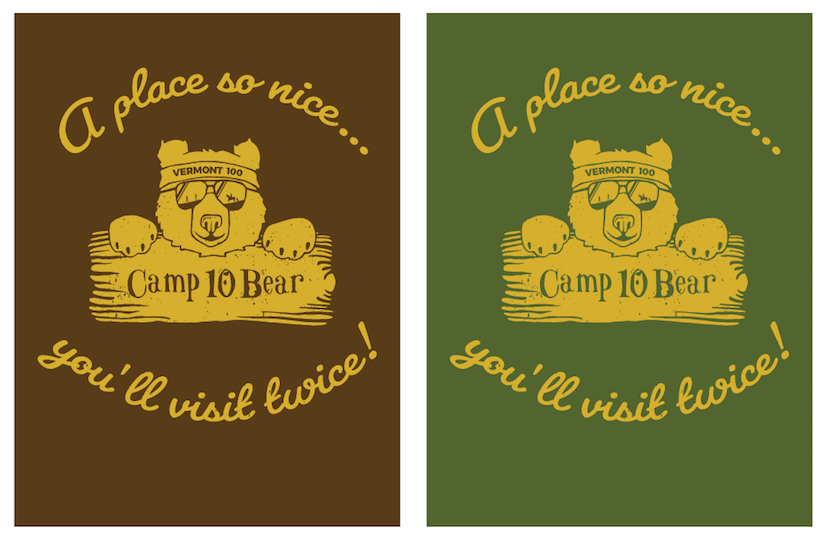 Vermont 100 - Project - Camp 10 Bear T-Shirt Design