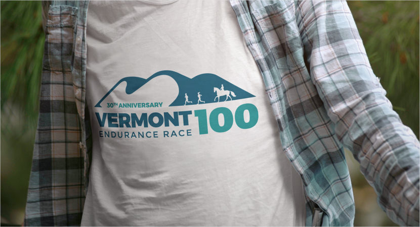 Vermont 100 - Project - T-Shirt Design Example Primary Logo