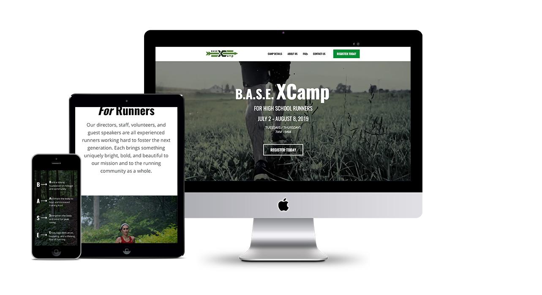 B.A.S.E. XCamp – Branding and Website Design
